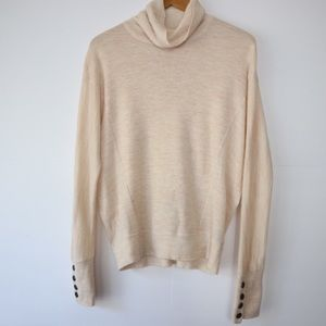Anthropologie Moth Space Dye Cowl Neck Sweater M